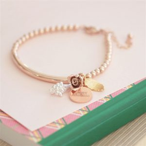 Bracelet Rose Gold Gift for Friend or Work Colleague