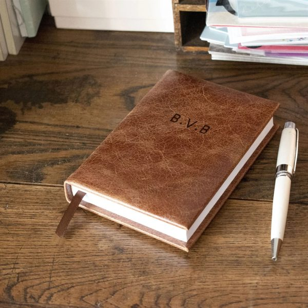 Engraved A6 5-year Diary Gift Leather
