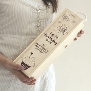 Engraved Personalised Wine Box Gift