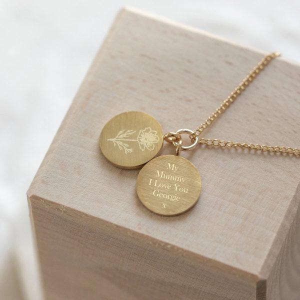 Flower Pendant Necklace Rose Gift
