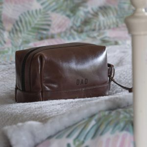 Leather Washbag Gift for father's day