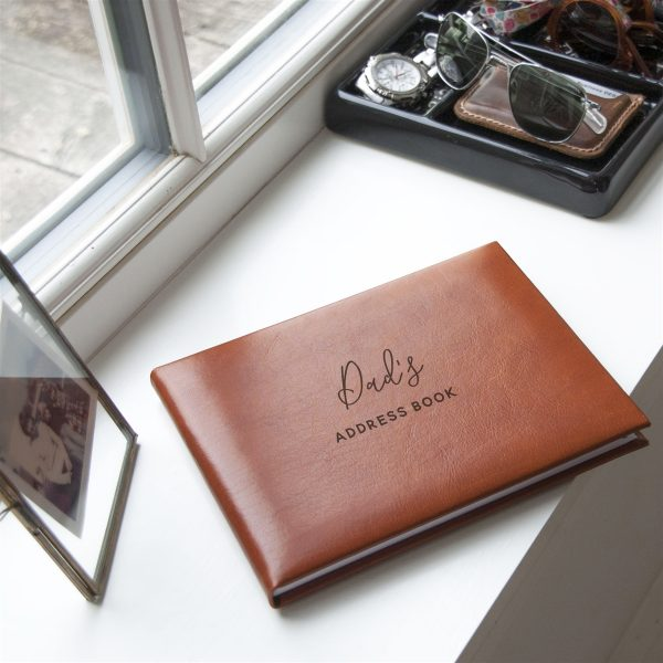 Personalised Tan Leather Gift Address Book