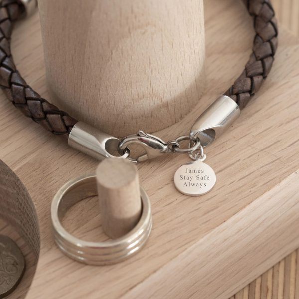 Personalised compasss bracelet gift for friend 2