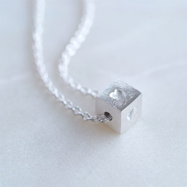 Silver Block Necklace Gift