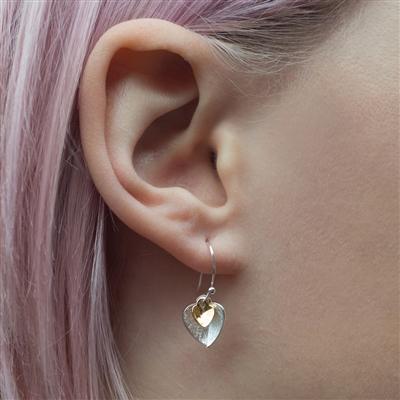 Silver Heart Earrings Gift For Women 2