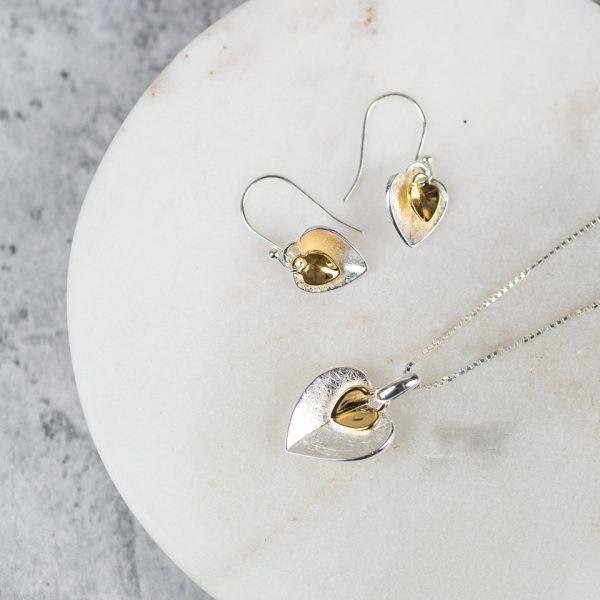 Silver Heart Earrings Gift For Women 3