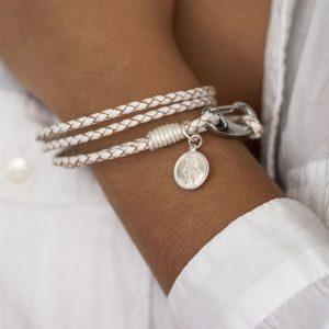 St Christopher Bracelet Gift White 1