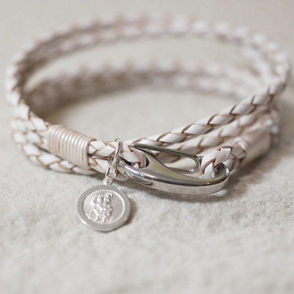 St Christopher Bracelet Gift White 2