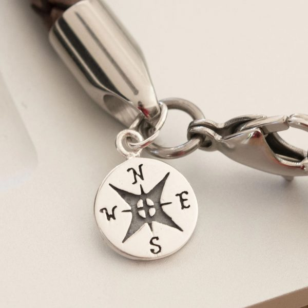 Personalised compass bracelet gift for friend 5