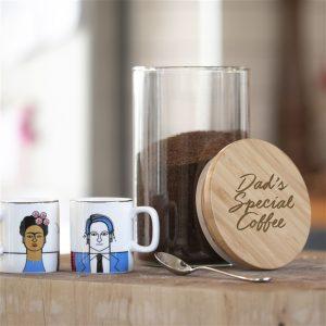 Personalised coffee jar