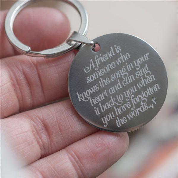 Engraved Keyring for friend