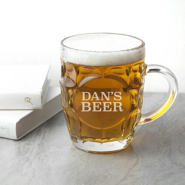 Personalised Beer Glass 2