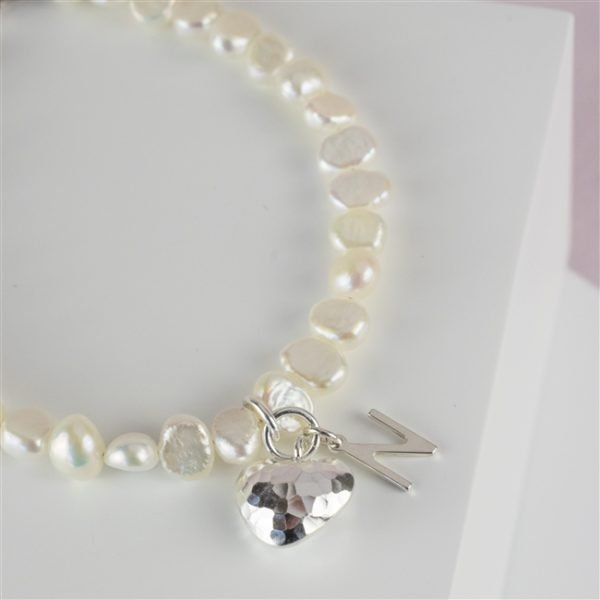 Personalised Freshwater Initial Bracelet for friend 2