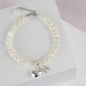 Personalised Freshwater Initial Bracelet for friend