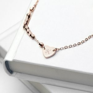 Personalised Love you heart necklace