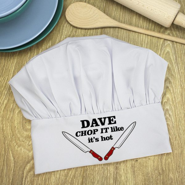 Personalised chef hat 3