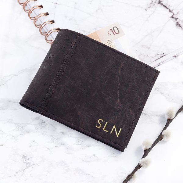Personalised leather wallet 6