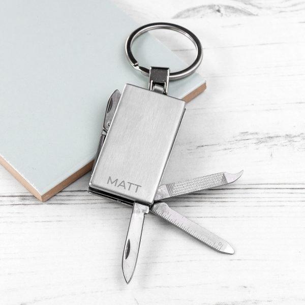 Personalised multi tool keyring 6
