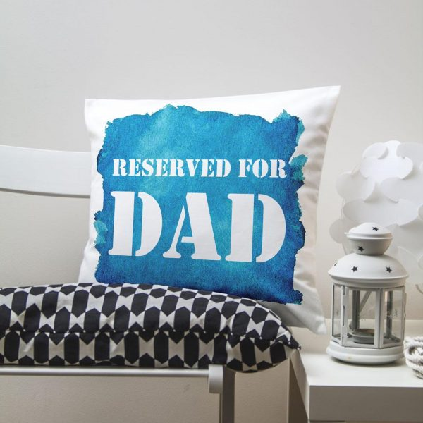 Personalised Cushion Cover for dad