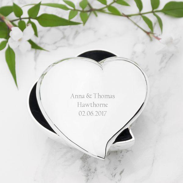 Personalised Heart Trinket Box 2