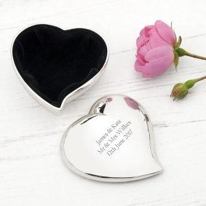 Personalised Heart Trinket Box 3
