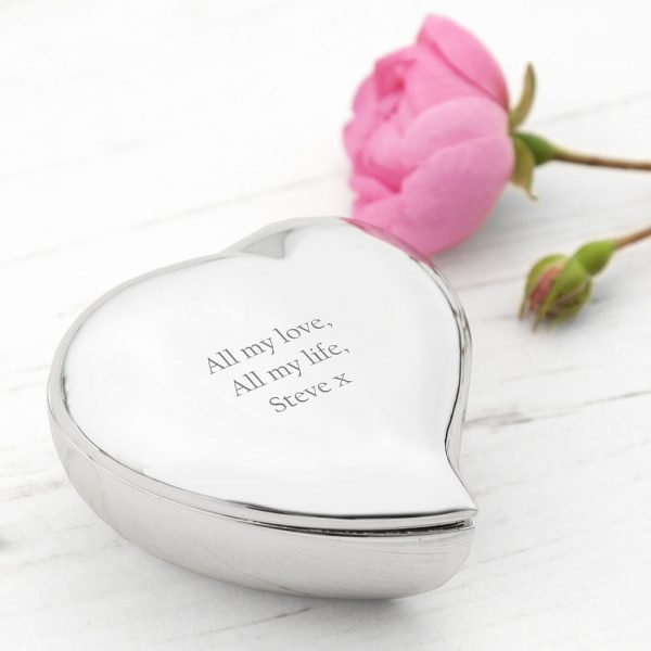 Personalised Heart Trinket Box 5