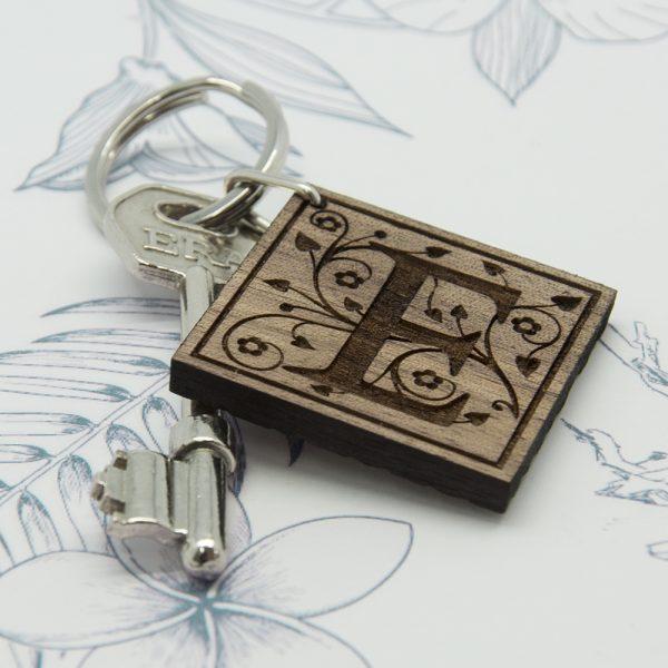 Personalised Wooden Keyring 4
